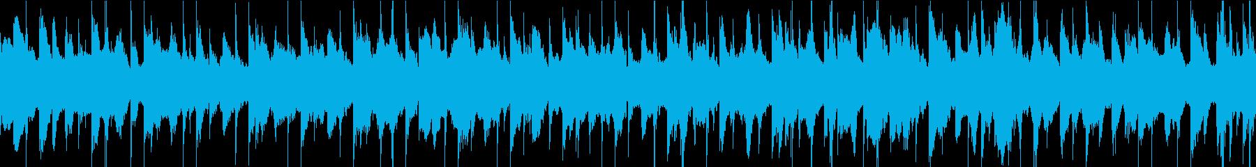 怪しいエスニック調のBGM(ループ)の再生済みの波形