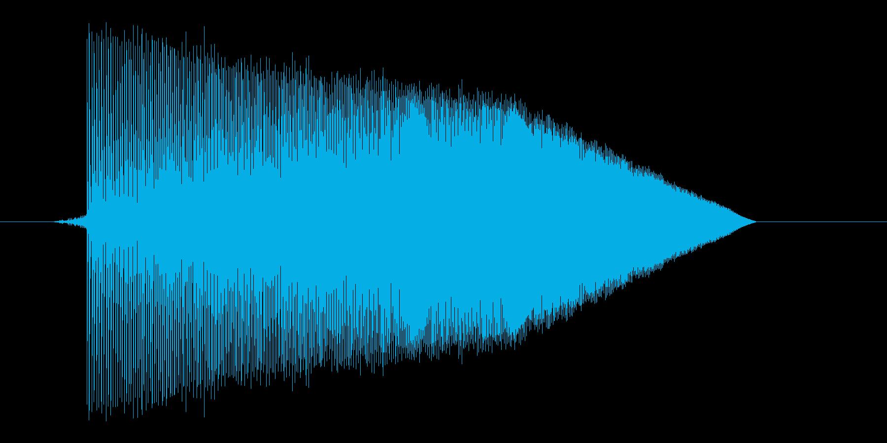ゲーム(ファミコン風)ジャンプ音_002の再生済みの波形