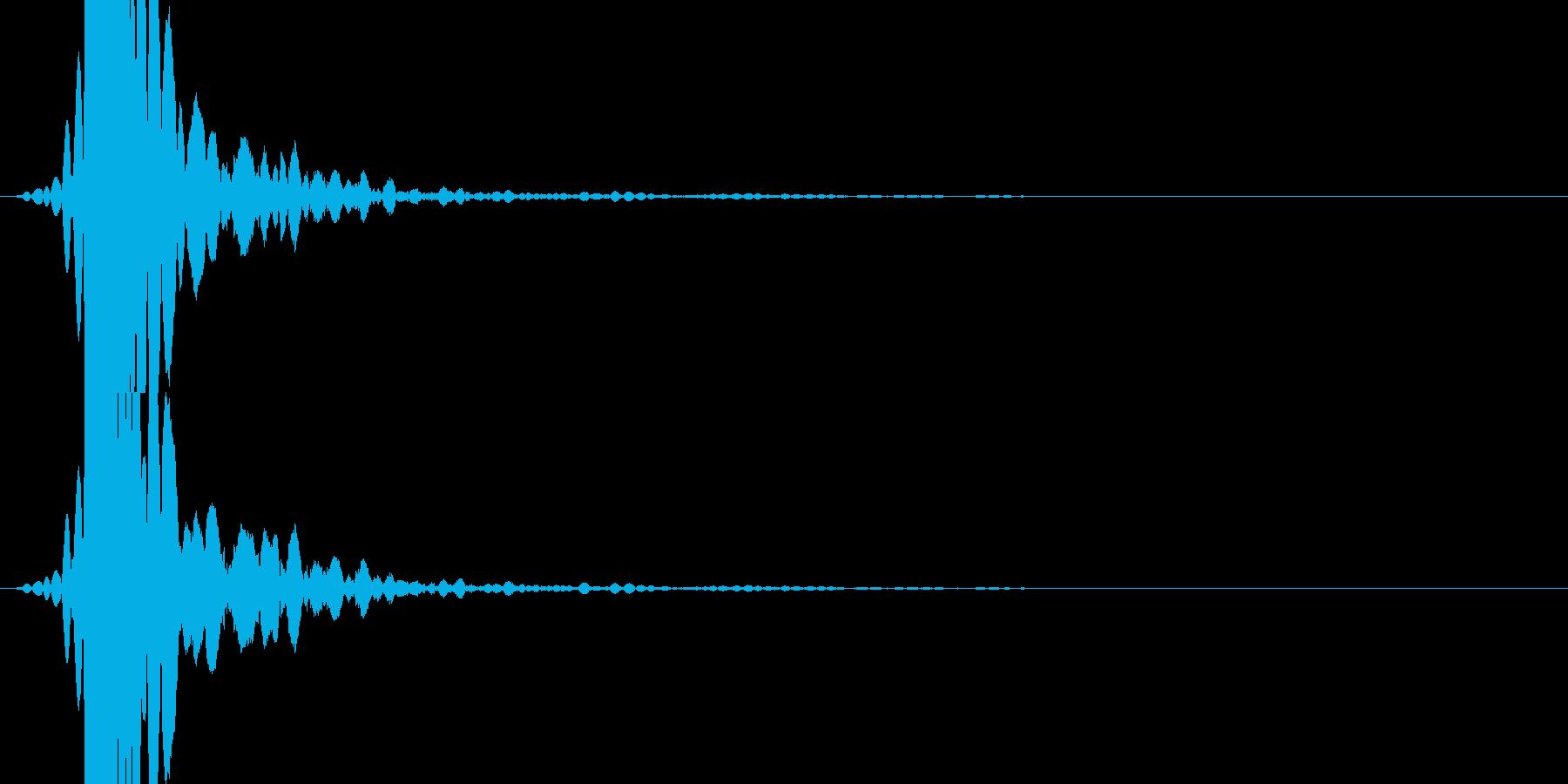 「ドスっ!」キック・蹴る1の再生済みの波形