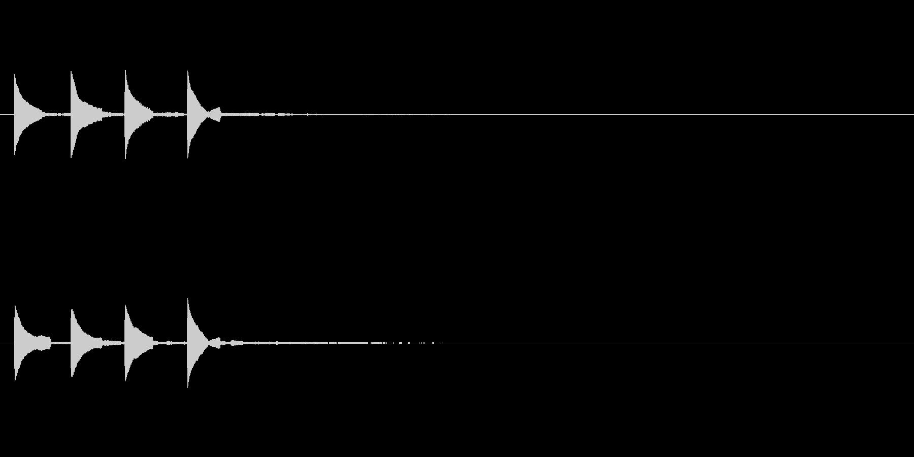 システム音 着信音 ピポピポーン2の未再生の波形