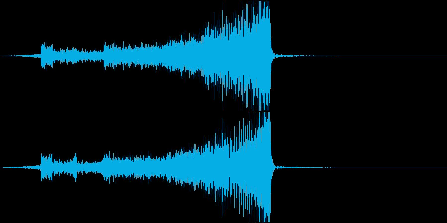 ホラー系恐ろしいものの急接近効果音の再生済みの波形