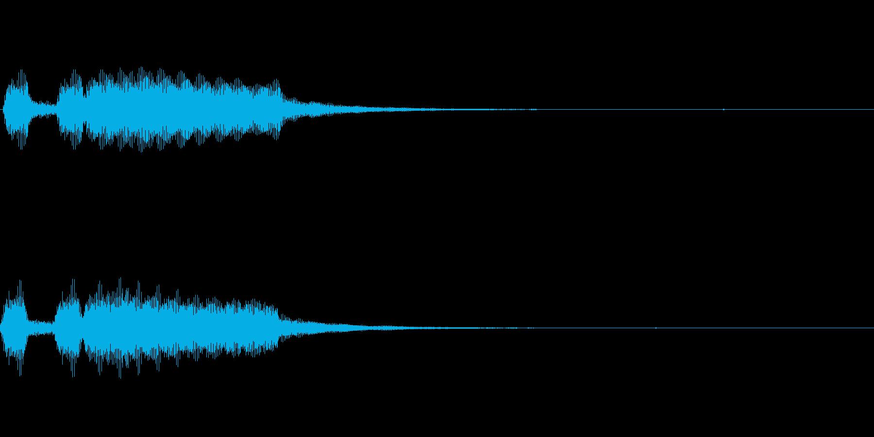ミッション達成等「パッパパーン」ver1の再生済みの波形