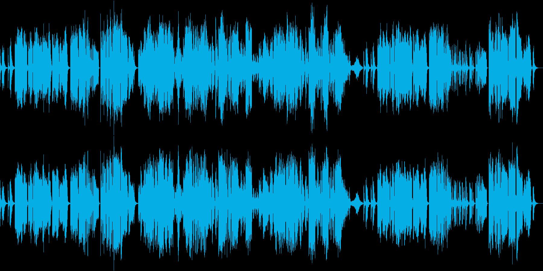 宮城道雄作曲の箏と尺八の二重奏の再生済みの波形