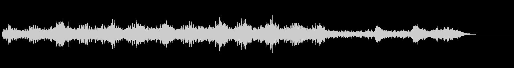 感動のシーン用BGMの未再生の波形