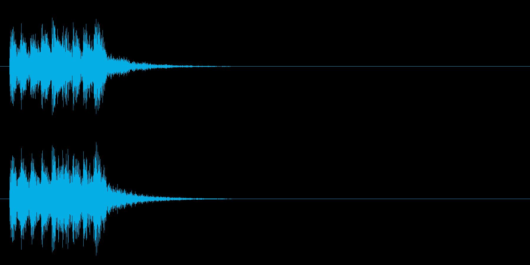 ジングル/アタック(ポップ/ロック)の再生済みの波形
