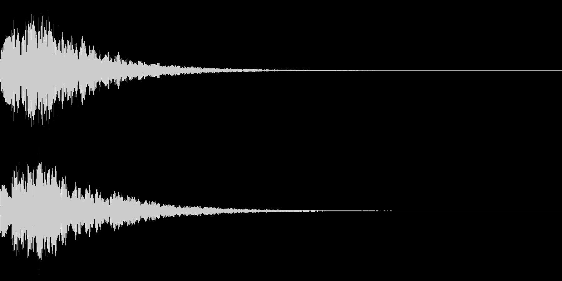 キラキラ/決定/テロップ/エコーの未再生の波形