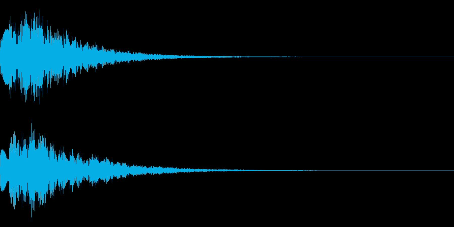 キラキラ/決定/テロップ/エコーの再生済みの波形