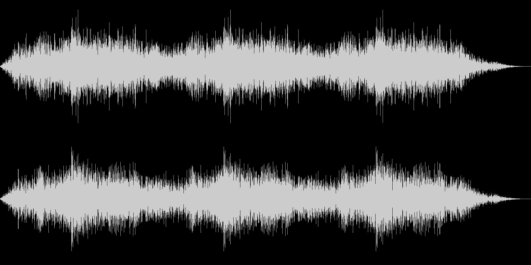ホラー映画に出てきそうなノイズ系音源17の未再生の波形