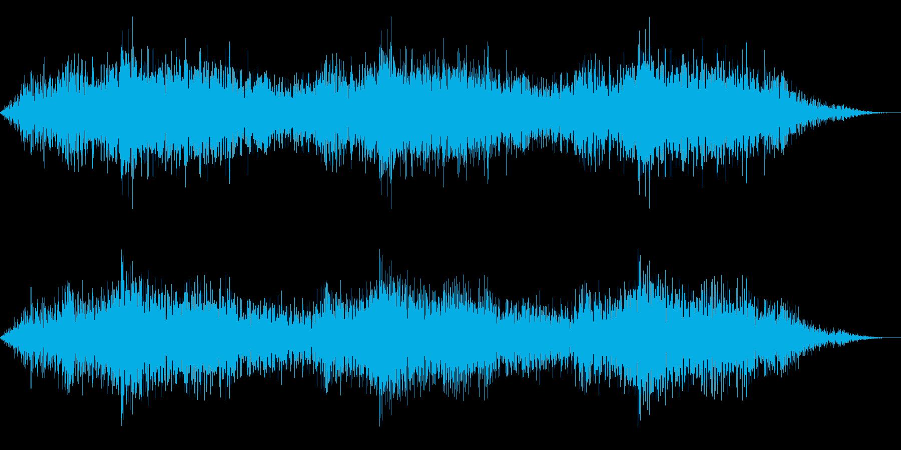 ホラー映画に出てきそうなノイズ系音源17の再生済みの波形