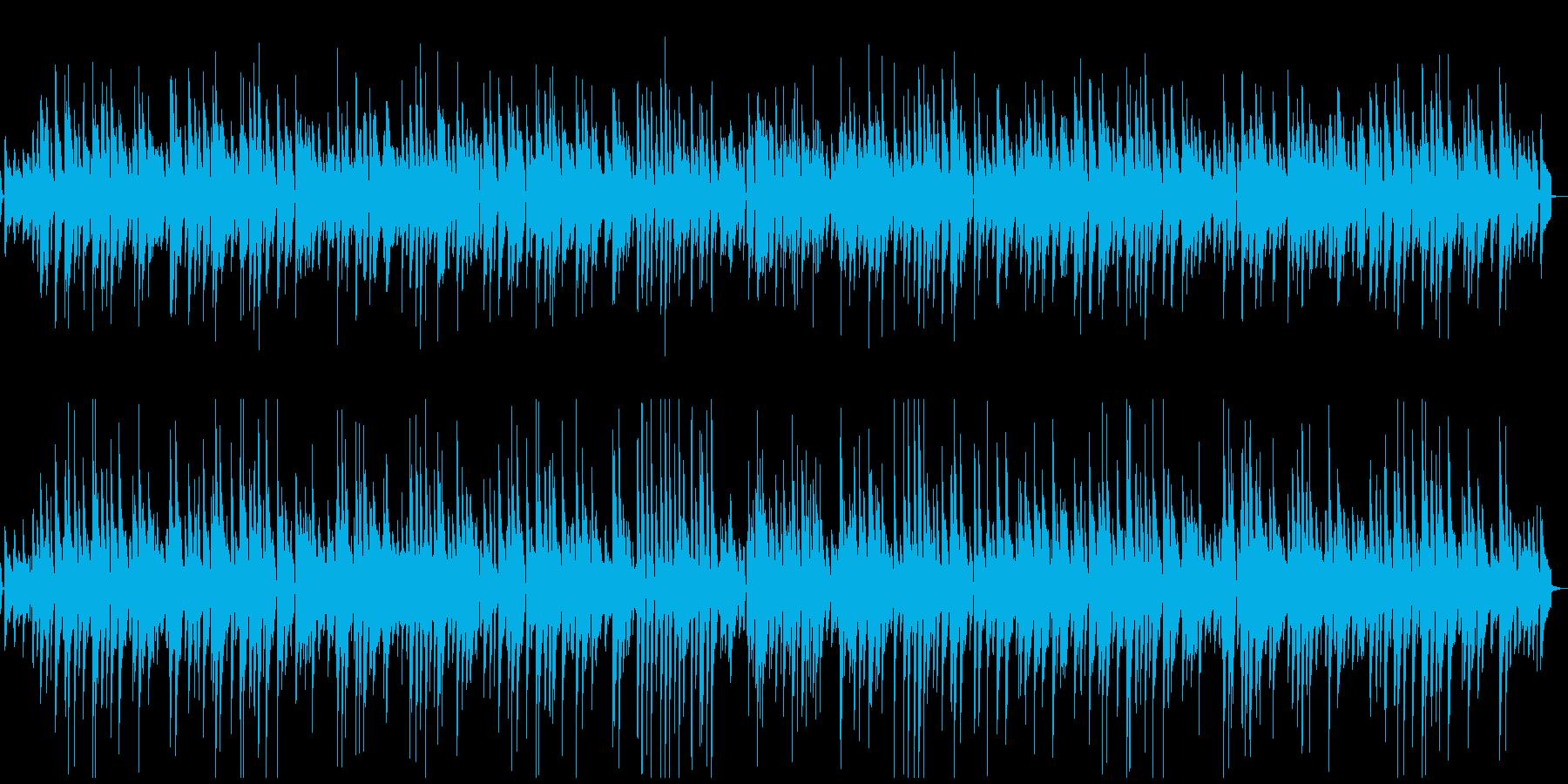 ピアノのゆったりスイングジャズの再生済みの波形