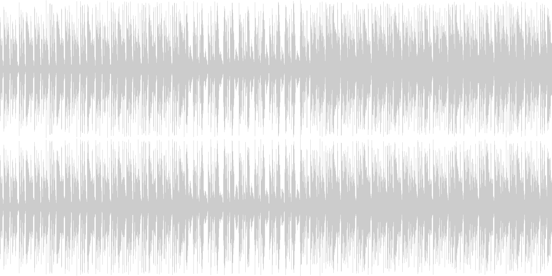 インパクトあるベースから始まるオシャレ曲の未再生の波形