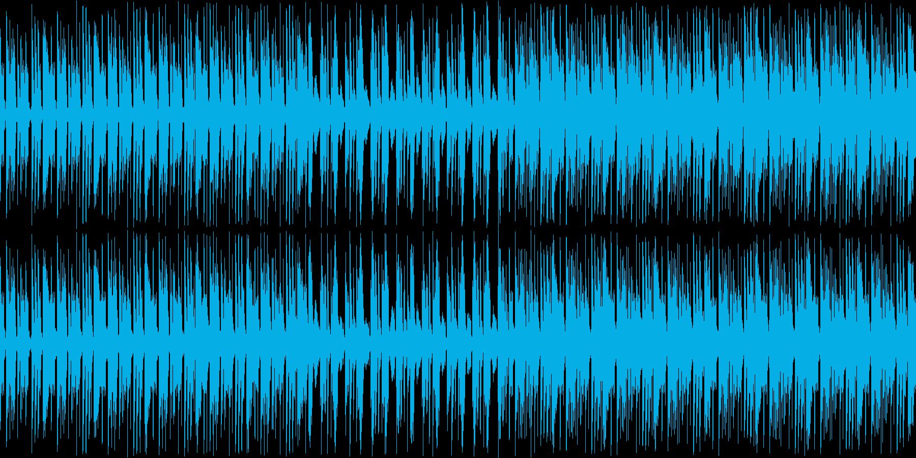 インパクトあるベースから始まるオシャレ曲の再生済みの波形