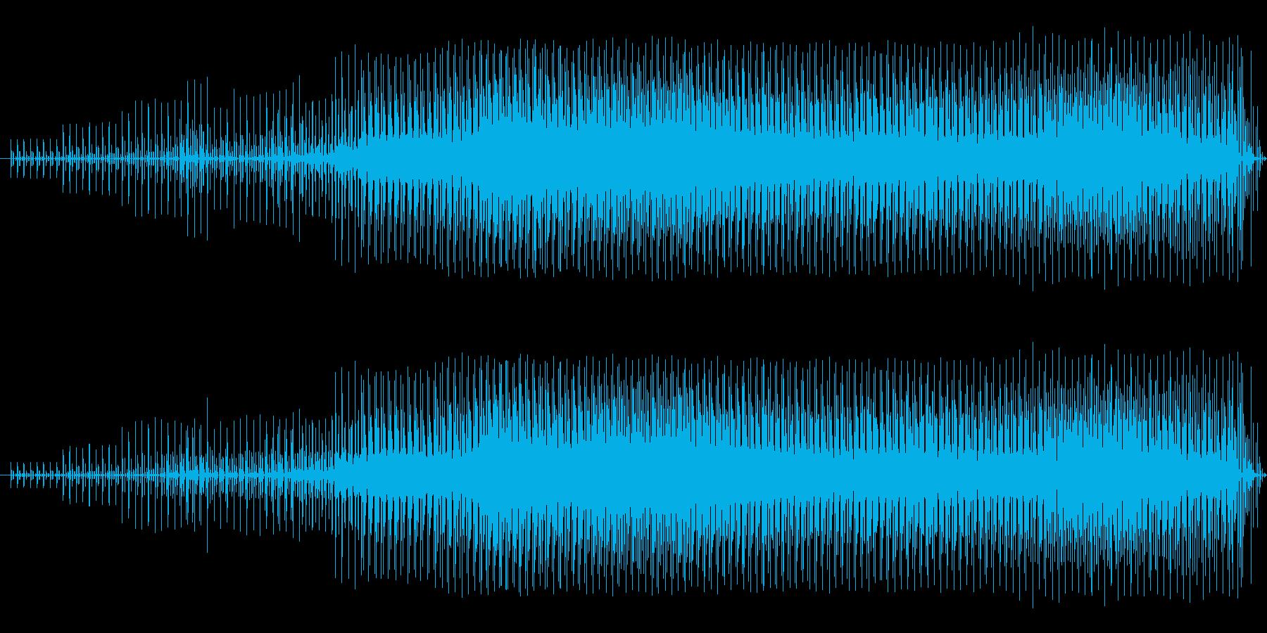 パズルゲーム向きな音楽の再生済みの波形