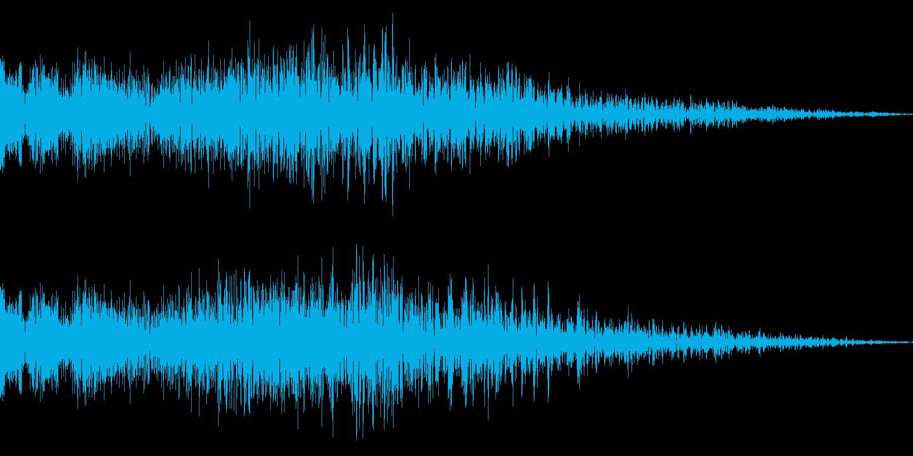 ガンショットの再生済みの波形