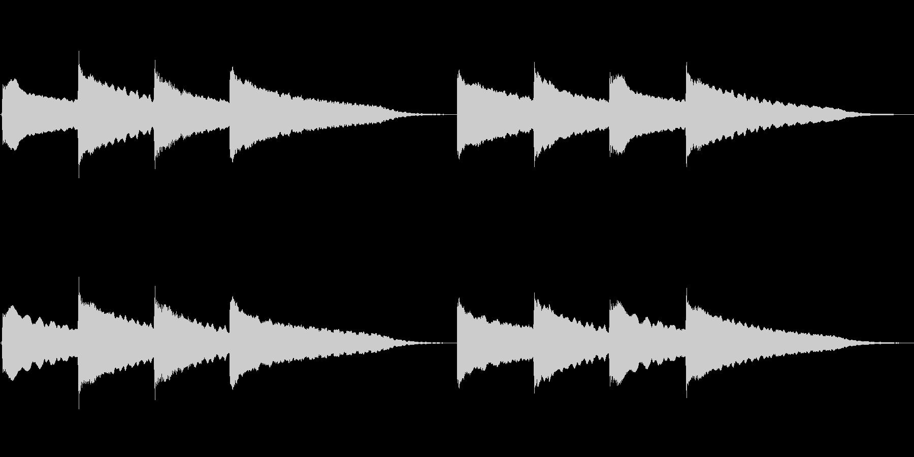 ピンポンパンポン (4)の未再生の波形