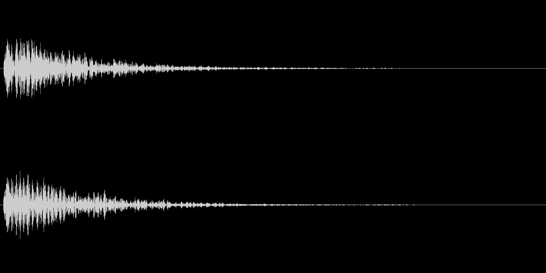 どん! 一発の音が欲しい方はこちらを。…の未再生の波形