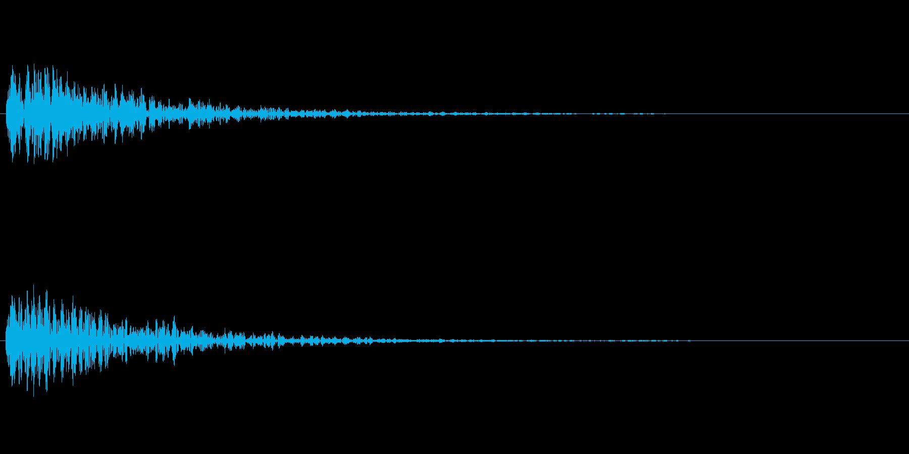 どん! 一発の音が欲しい方はこちらを。…の再生済みの波形