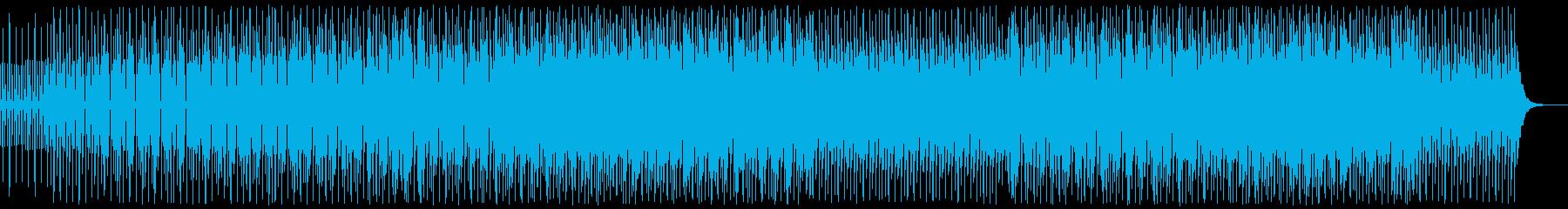 爽やかな四つ打ちの電子的なシンセポップの再生済みの波形