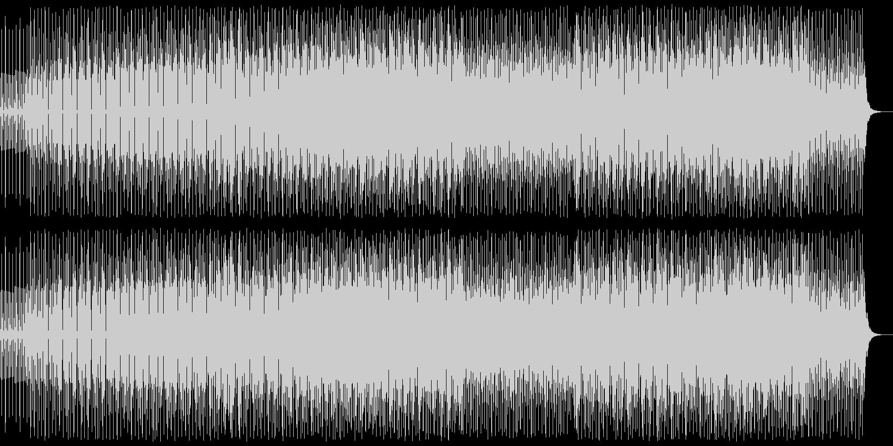 爽やかな四つ打ちの電子的なシンセポップの未再生の波形