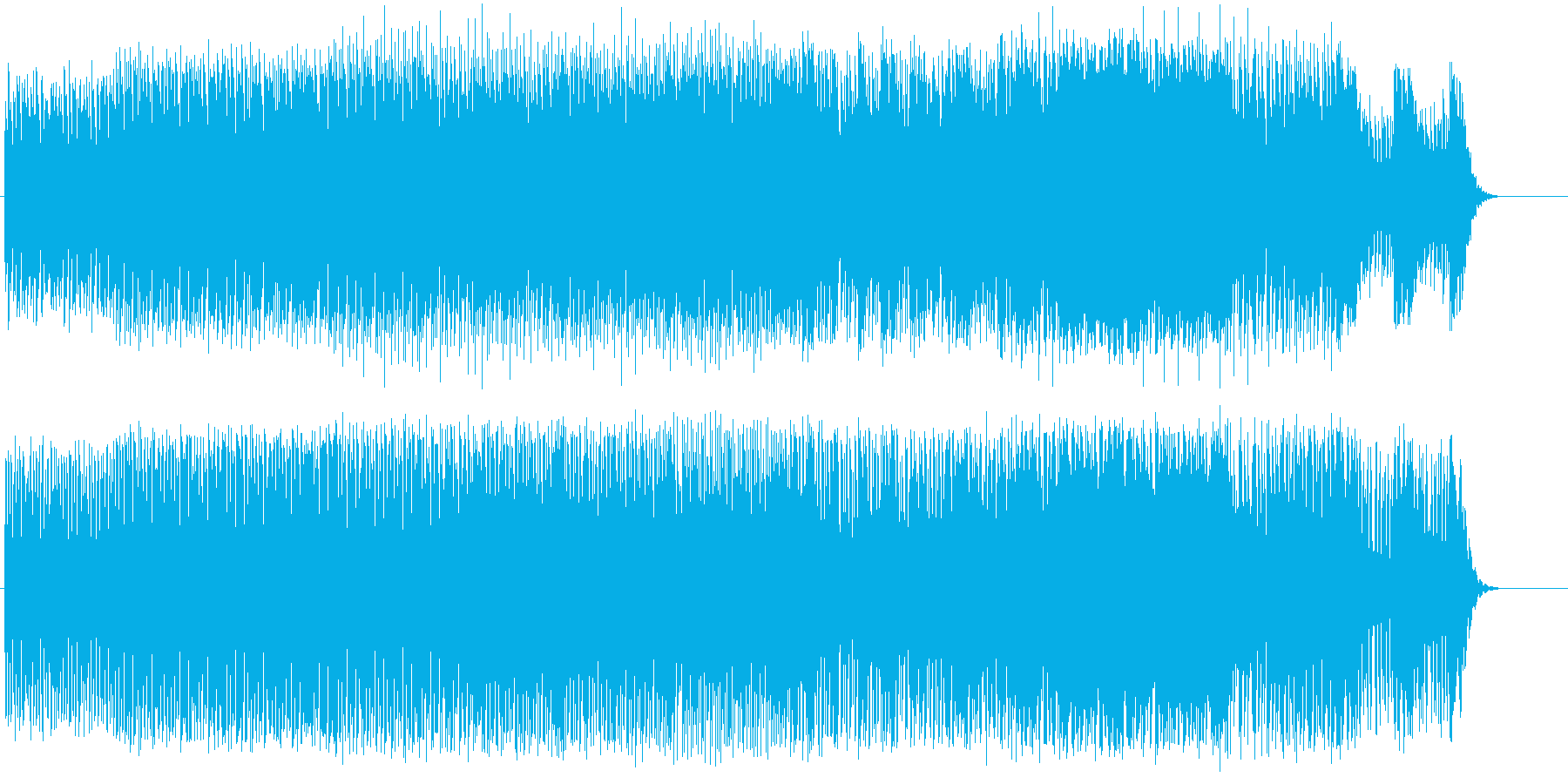 不安と恐怖に駆られそうになる怪しいテクノの再生済みの波形
