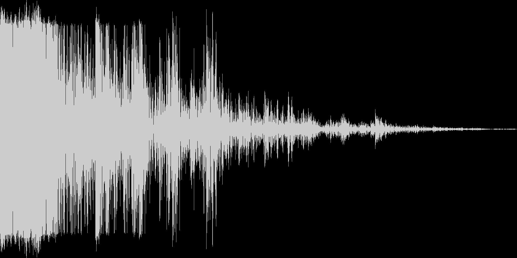 アプリ音の未再生の波形