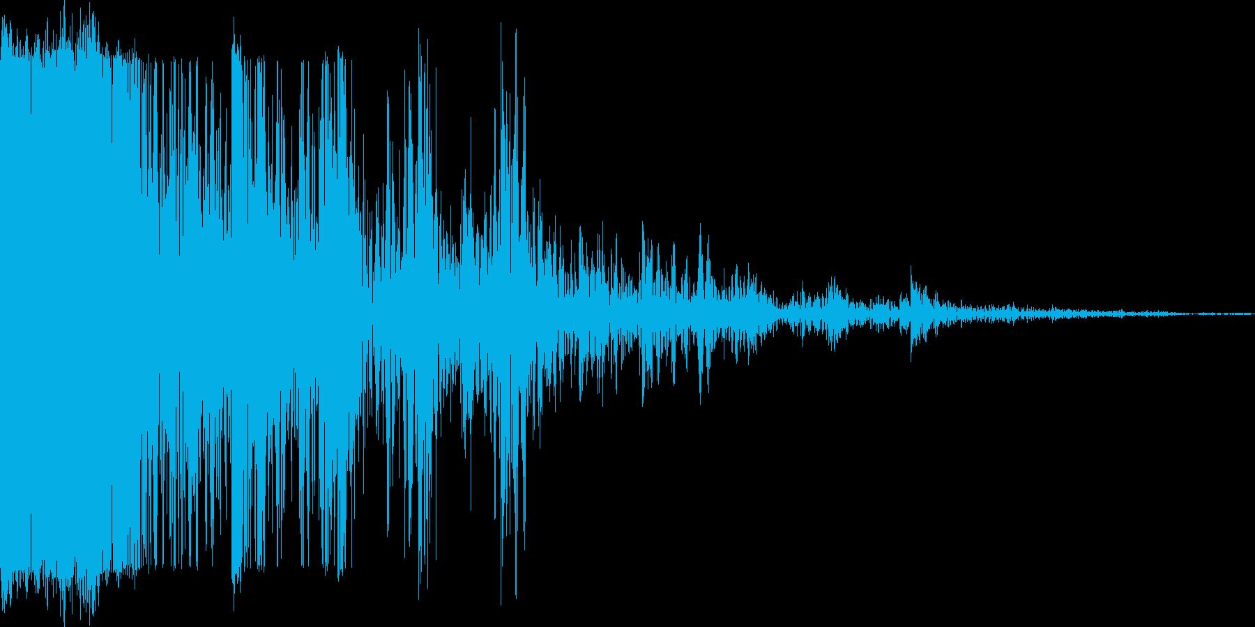 アプリ音の再生済みの波形