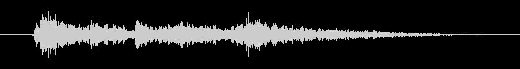 美しく切ないギター音(弦、弾く)の未再生の波形