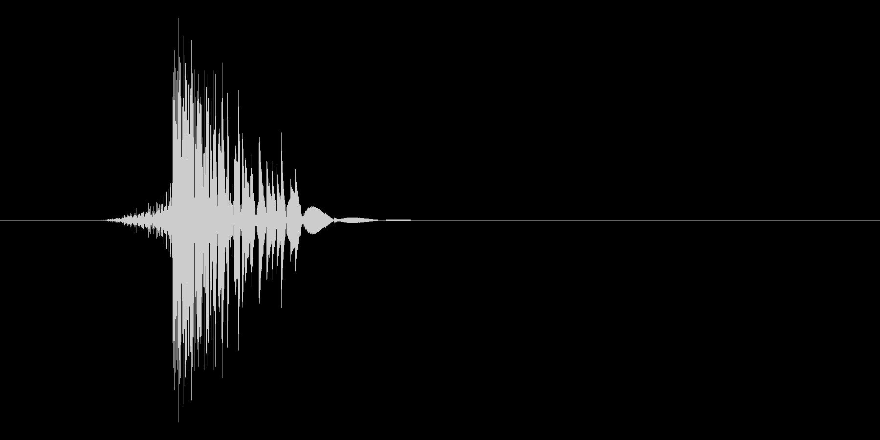 ゲーム(ファミコン風)ヒット音_016の未再生の波形
