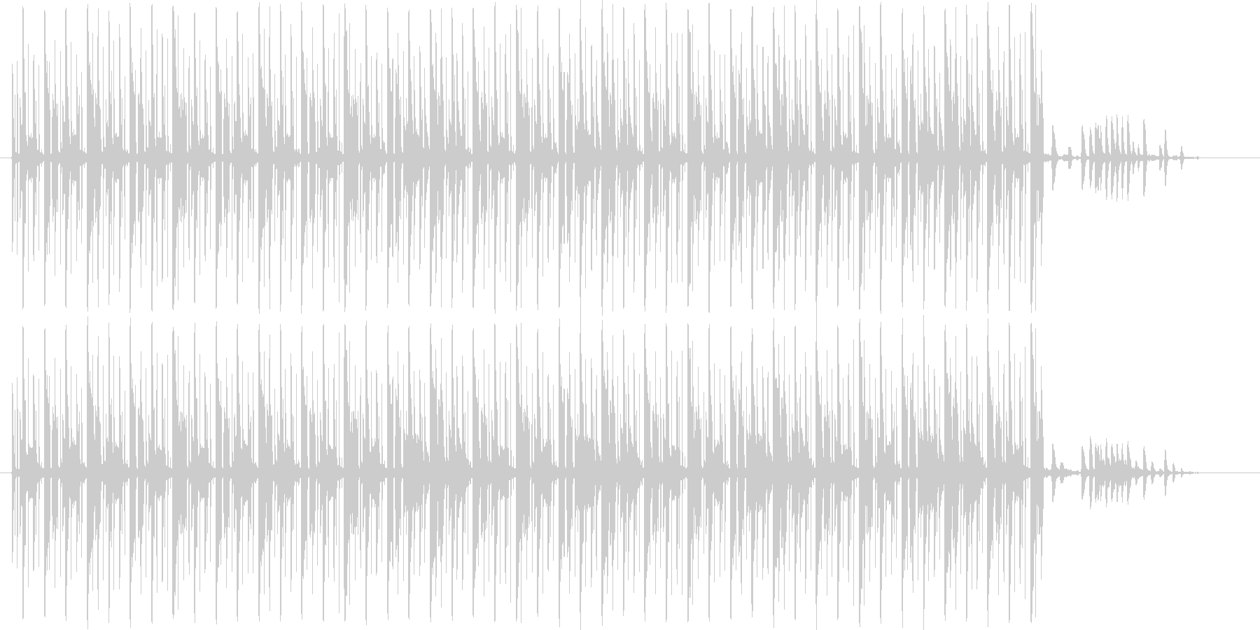 テクノです。24bit,48kHz環境…の未再生の波形