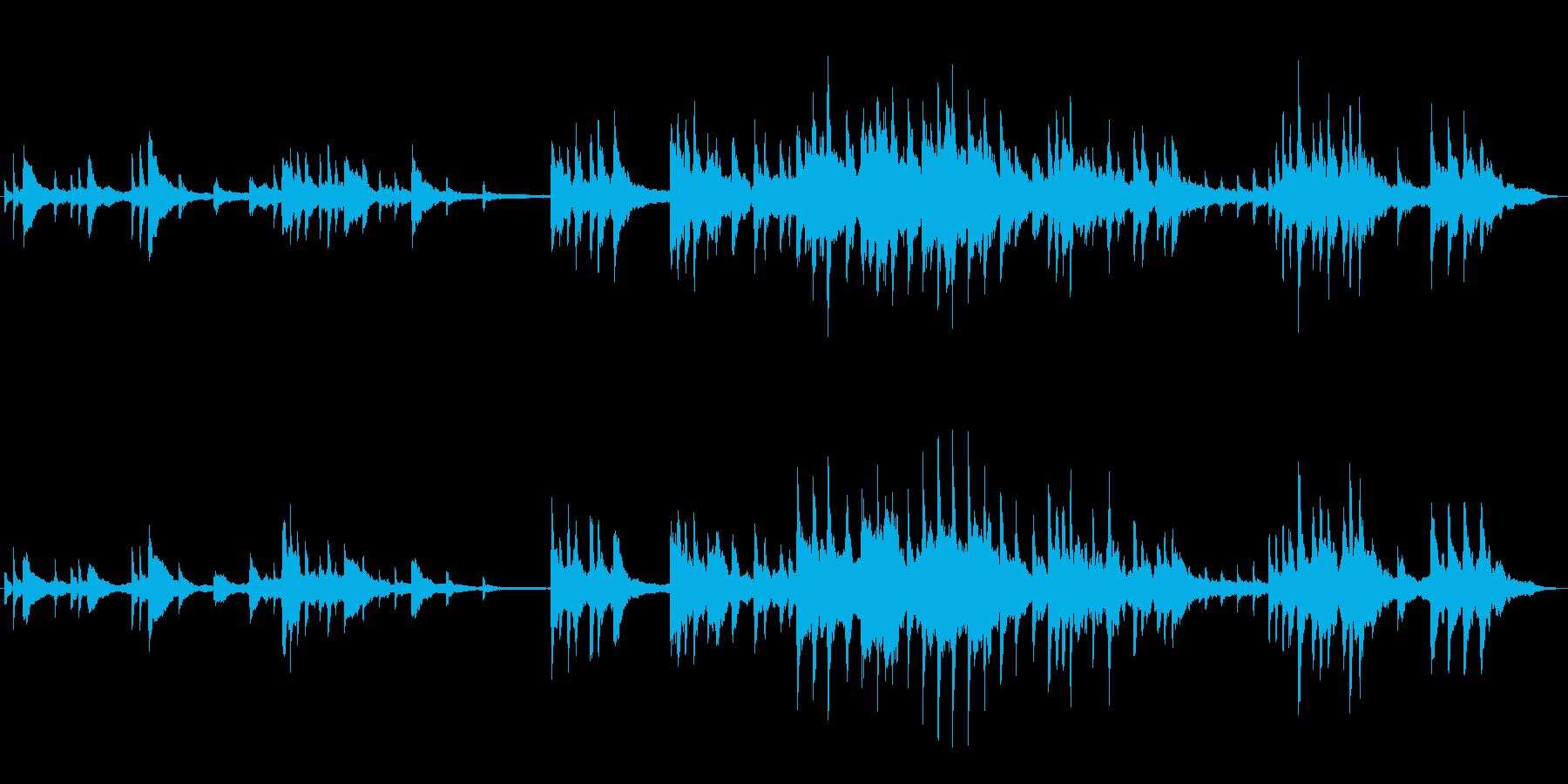 クリスマス、優しい切ないピアノソロの再生済みの波形