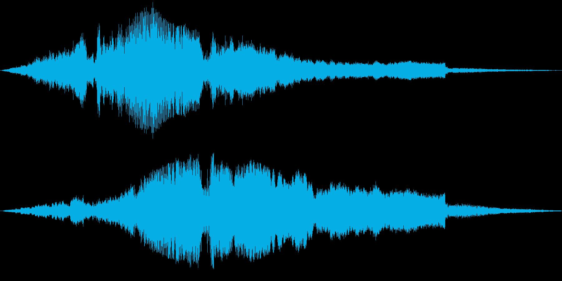 バイク通過(マフラー改造)の再生済みの波形