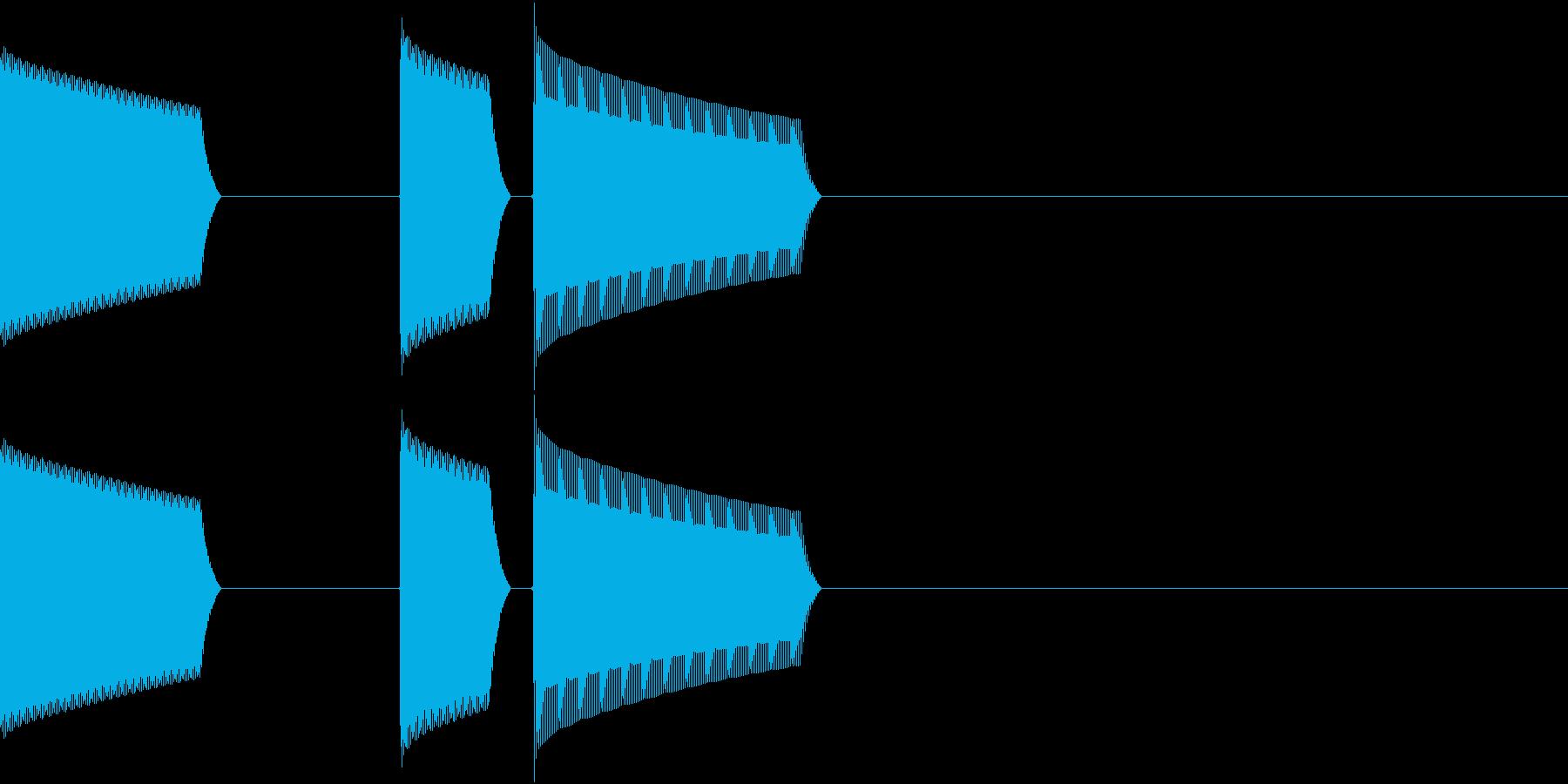 ATM 操作音 6の再生済みの波形