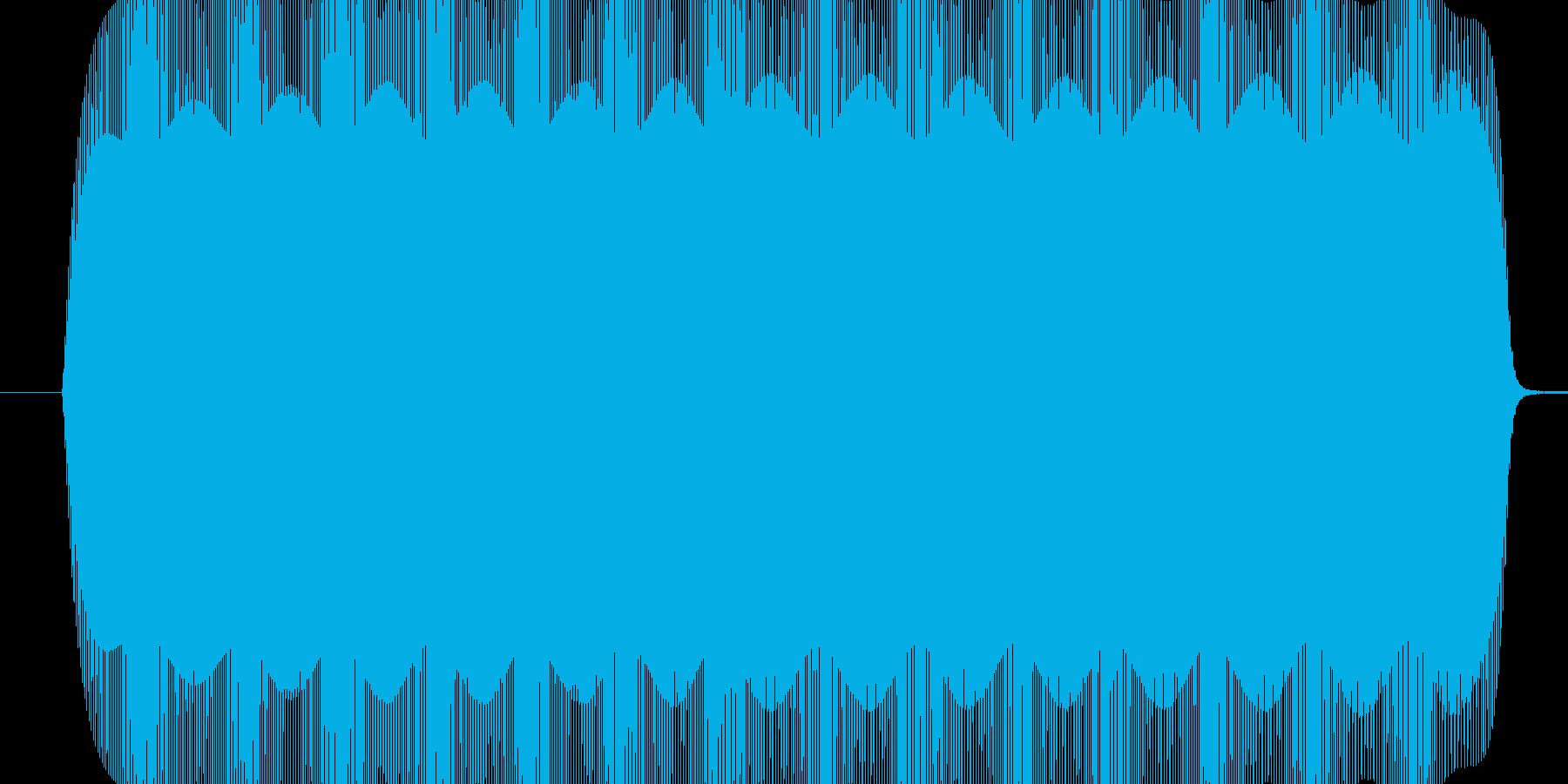 ボワンボワン、ぐるぐるまわる電子音の再生済みの波形