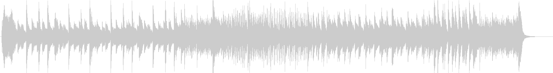 レトロでジャジー陽気なピアノソロBGMの未再生の波形