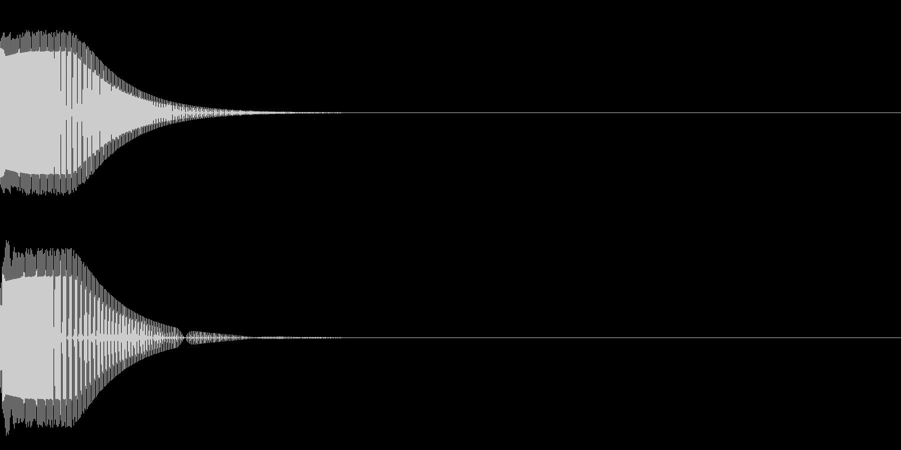 プゥン(尻下がり)の未再生の波形