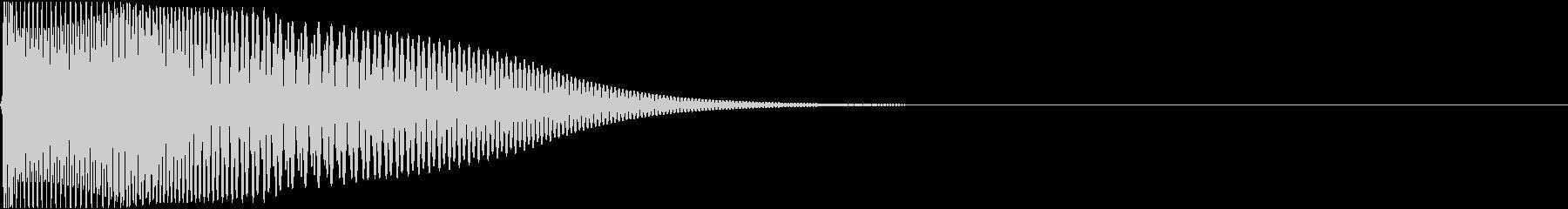 ポウン(バウンド・はねてるような音)の未再生の波形