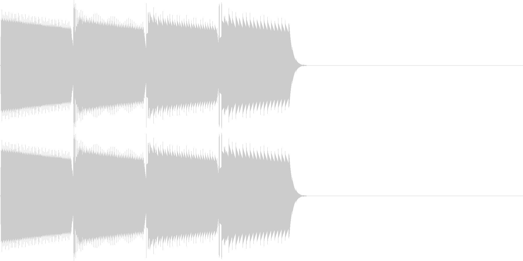 キャンセル音(ピロロン)の未再生の波形