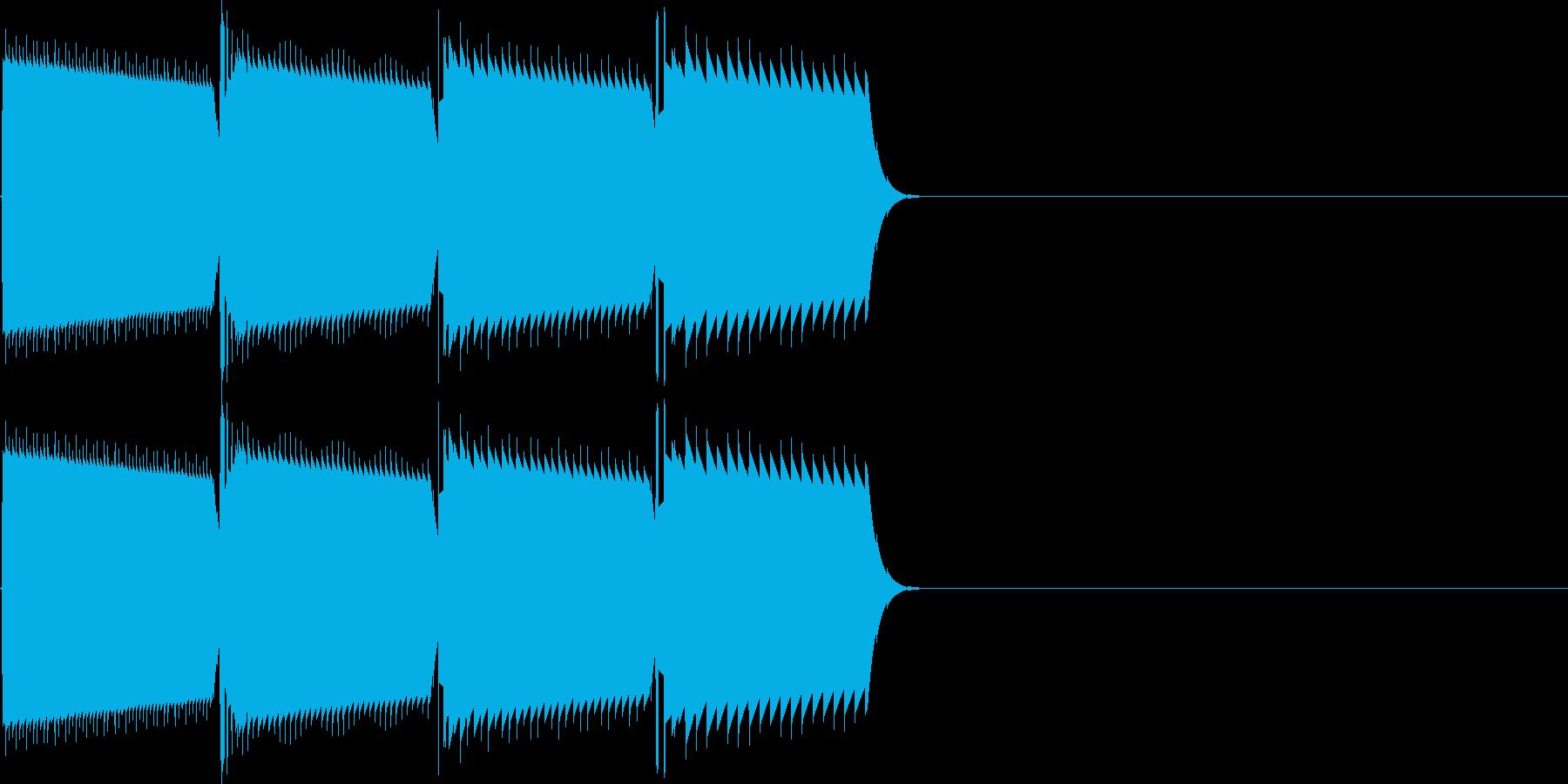 キャンセル音(ピロロン)の再生済みの波形