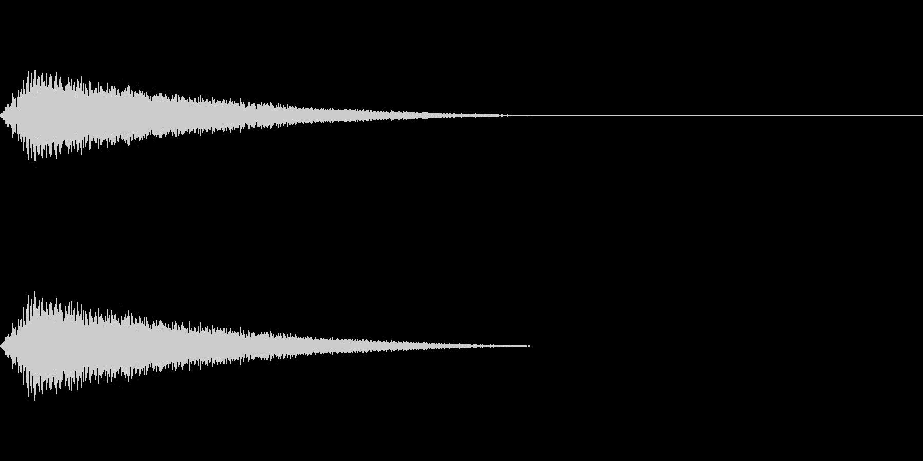 ロケットが飛び出すような音の未再生の波形