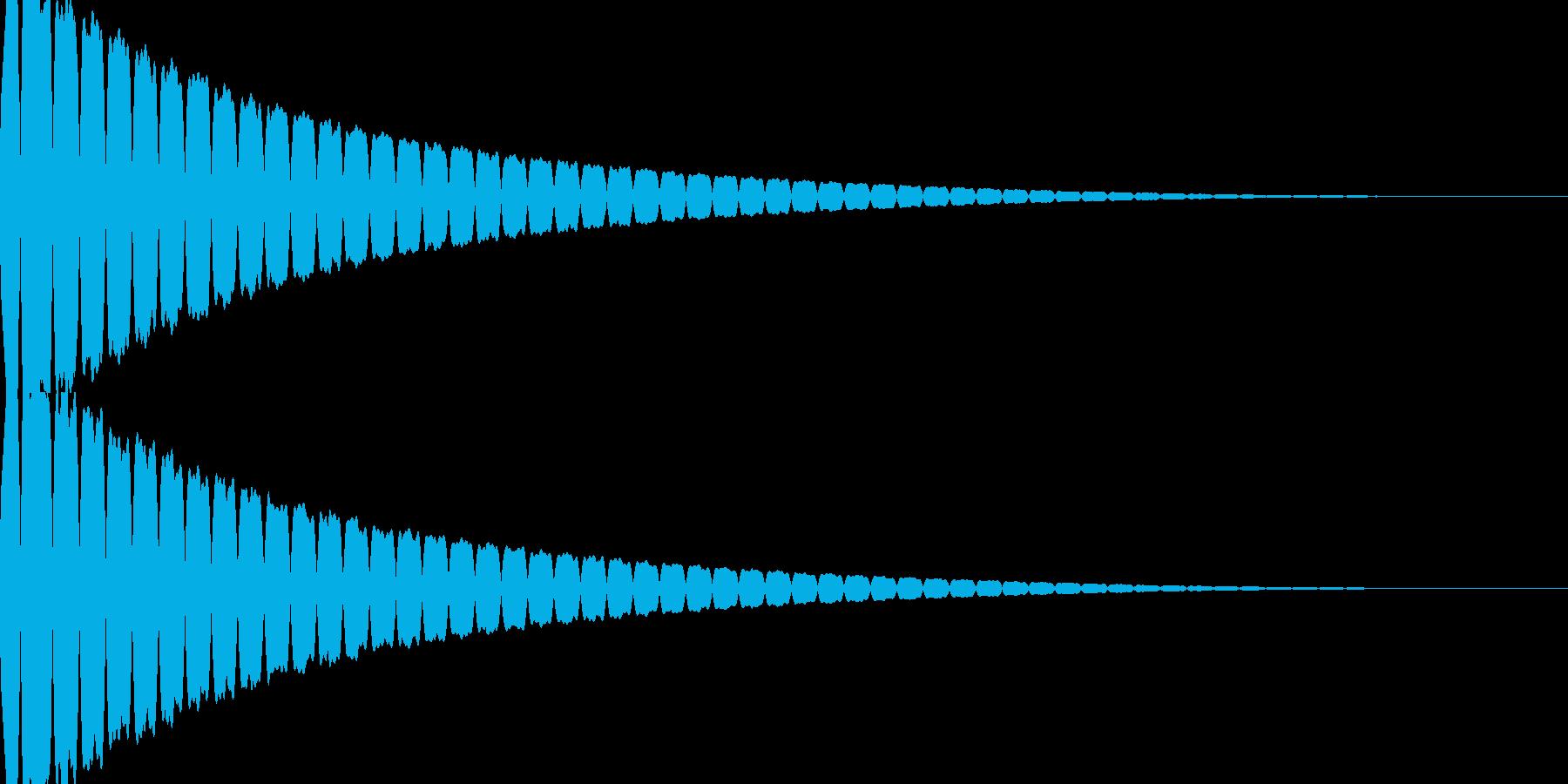 キュイン(飛ばされて星になる タイプ1)の再生済みの波形