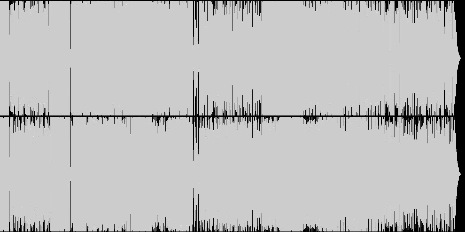 とても激しいスラッシュメタルの未再生の波形