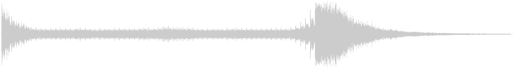 ドゥルルル・・ジャーン!(ドラムロール)の未再生の波形