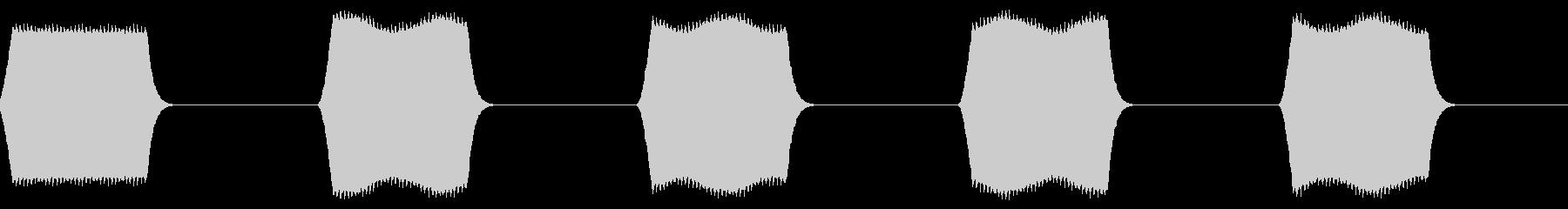 ピピピ:名前などを表示する時のテキスト音の未再生の波形