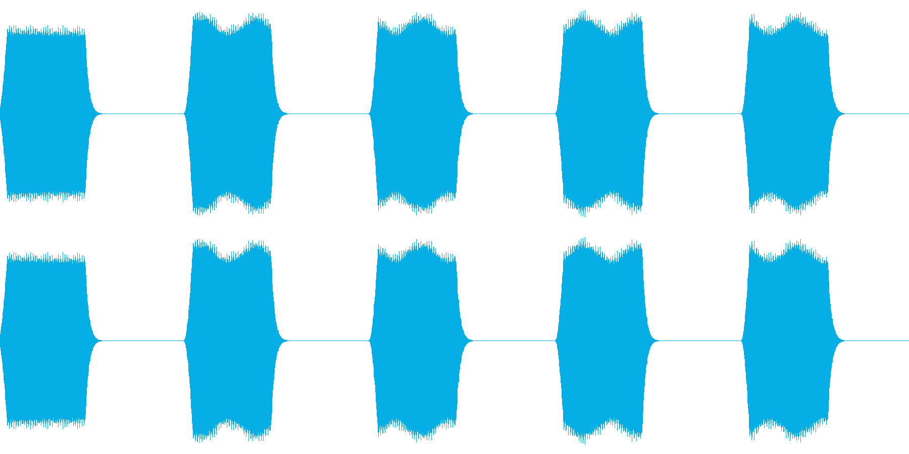 ピピピ:名前などを表示する時のテキスト音の再生済みの波形