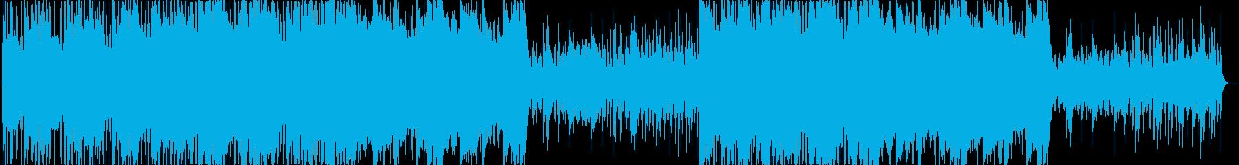 ピチカードとピアノがメインのポップスの再生済みの波形