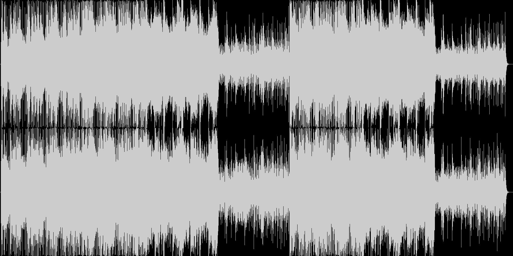 ピチカードとピアノがメインのポップスの未再生の波形