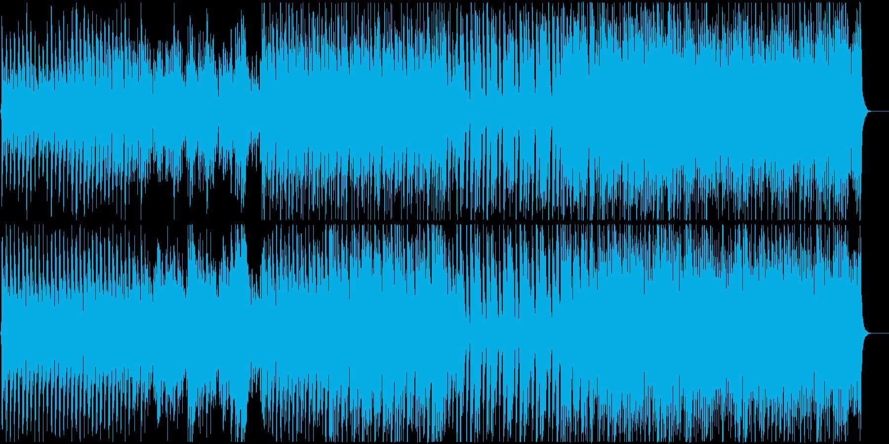 ハープとストリングスの爽やかで活発な曲の再生済みの波形
