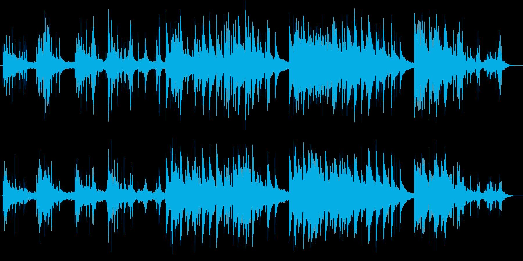 切なくも心癒されるピアノバラードの再生済みの波形