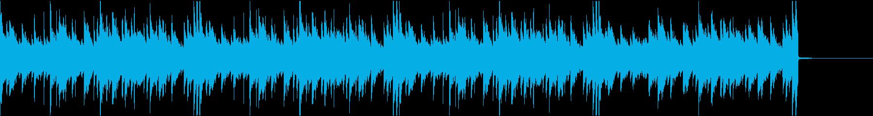 アンビエントな癒し系ピアノBGMの再生済みの波形