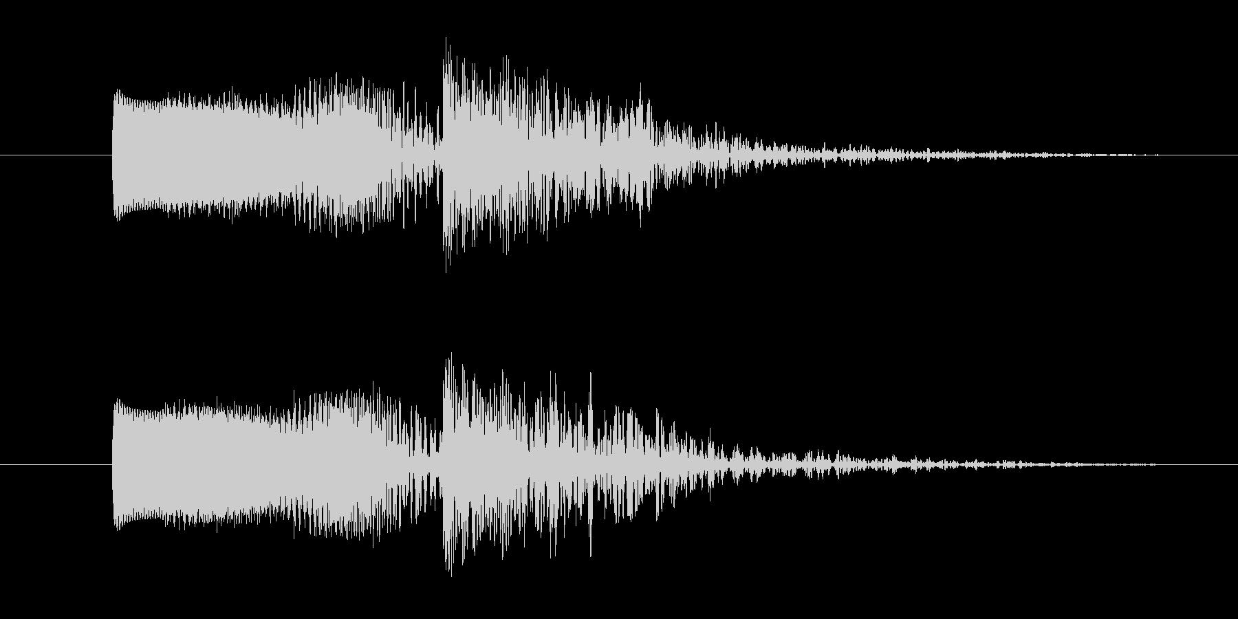 ビーム音と爆発音の効果音,SE4の未再生の波形